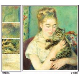 女孩和貓_近代名畫