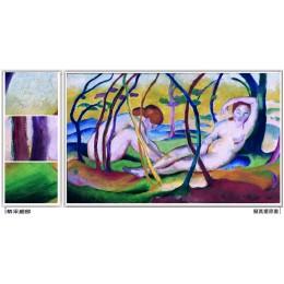 在樹下裸體 _ 近代抽象