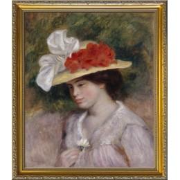 女人與花帽子